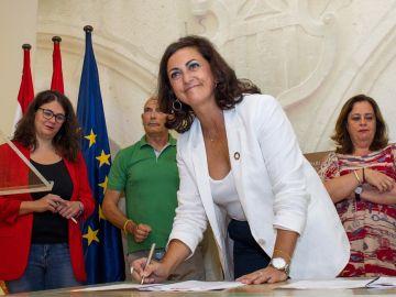 La candidata del PSOE a la presidencia de La Rioja, Concha Andreu