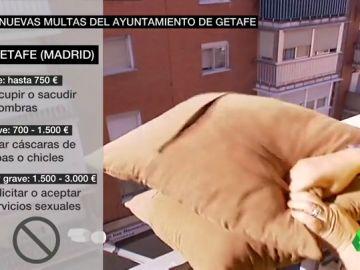 Getafe aprueba multas de más de 700 euros por sacudir un mantel por la ventana
