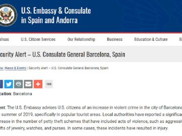 Alerta del Consulado General en Barcelona
