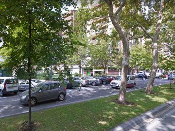 Calle Fuente del Hierro en Pamplona, Navarra