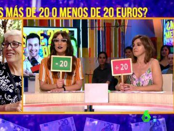 'El Juego de la SemAnna': Adivinar si la calle lleva más de 20 euros en su cartera