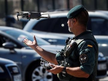 Agente de la Guardia Civil en Biarritz