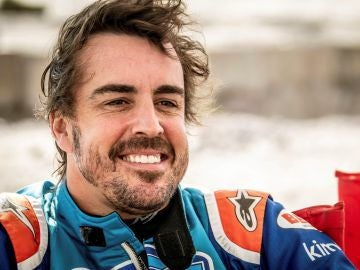 Fernando Alonso, durante los test de Namibia
