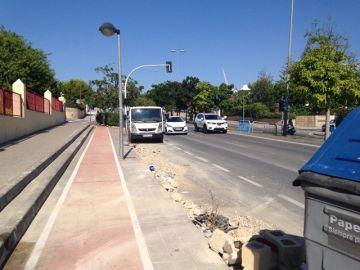 Avenida donde ha tenido lugar el accidente