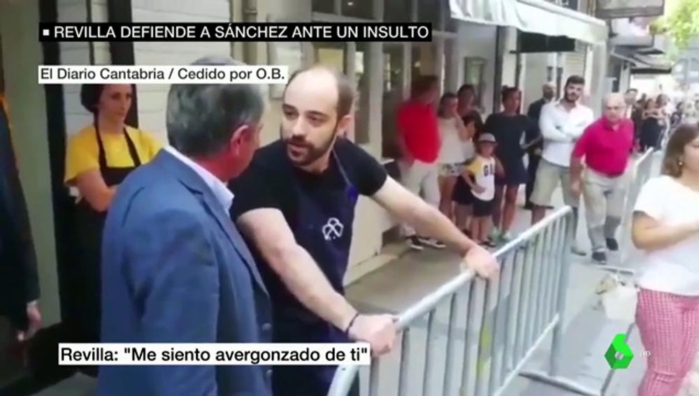"""Revilla visita al hombre que llamó """"hijo de puta"""" a Pedro Sánchez: """"Está muy arrepentido y ha llorado"""""""