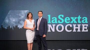 Verónica Sanz e Iñaki López, en laSexta Noche