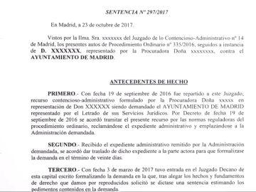 laSexta accede a la sentencia que ordena el precinto de la casa de Iván Espinosa de los Monteros y Rocío Monasterio