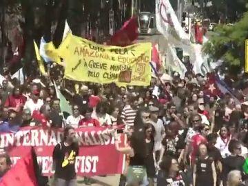 Protestas en Río de Janeiro contra el presidente Bolsonaro
