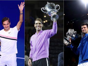 Federer, Nadal y Djokovic, la carrera por ser el mejor