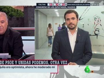 """Alberto Garzón: """"El PSOE no ha conseguido apoyos porque cree que unas nuevas elecciones le sitúan mejor"""""""