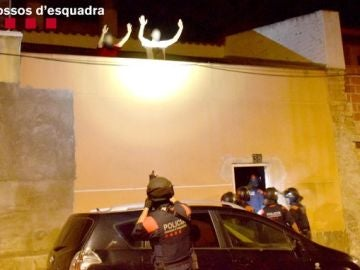 Momento de la detención de los secuestradores de Amposta
