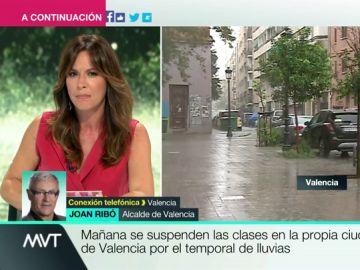 """Joan Ribó: """"El peligro de lluvias intensas sobre Valencia es muy grande"""""""
