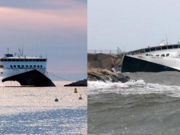 El ferry encallado en Dénia se hunde