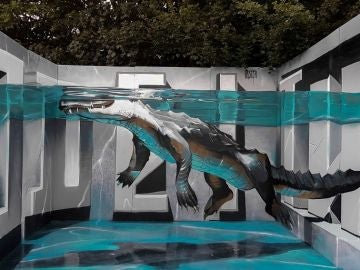 Graffiti 'Alligator Upfest' de Odeith