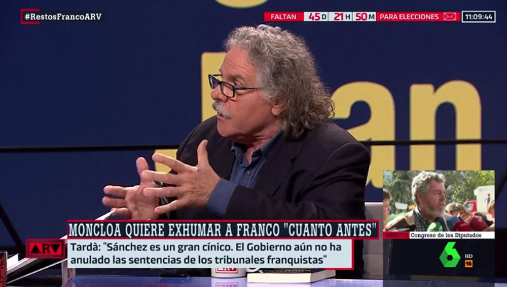 El exdiputado Joan Tardá