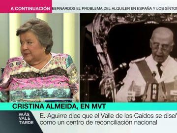 """Cristina Almeida: """"Hay 33.000 asesinados por Franco haciéndole compañía en el Valle de los Caídos"""""""