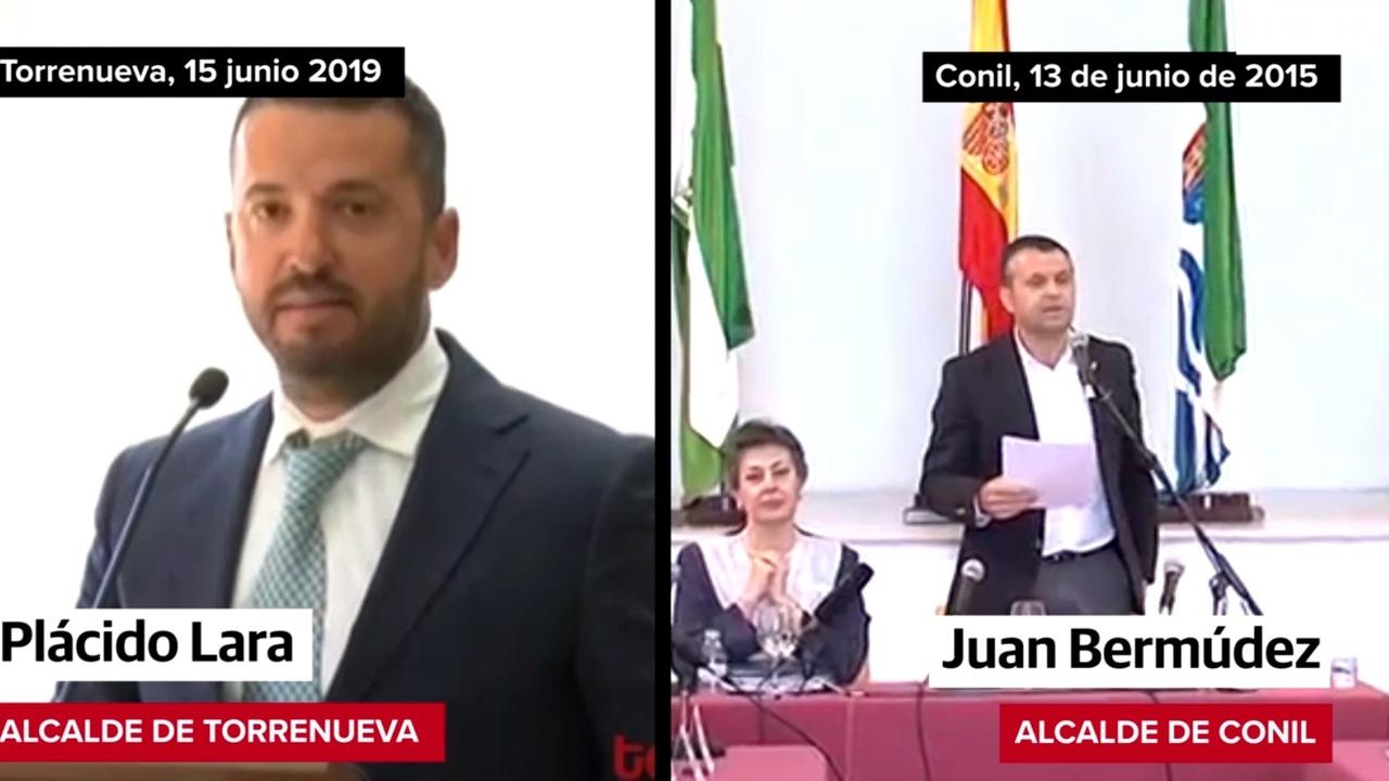El alcalde de Torrenueva, Plácido Lara, y el de Conil, Juan Bermúdez