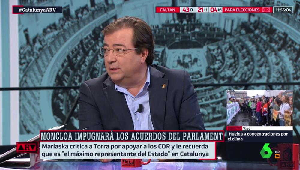 """Fernández Vara: """"El 155 no es un capricho, no se puede utilizar frente a cualquier incidente"""""""