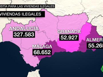 La Junta de Andalucía regularizará más de 300.000 viviendas ilegales