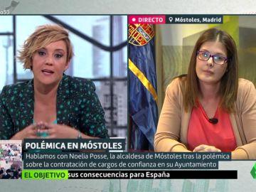 """Cristina Pardo, a la alcaldesa de Móstoles: """"¿Qué diría si el candidato del PP contratara a su hermana, a una amiga y ascendiera a su tío?"""""""