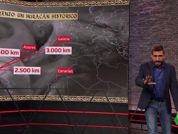 REEMPLAZO | Así afectará el histórico huracán Lorenzo en España