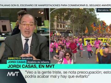 """Jordi Casas: """"PSOE y PP están lejos de la confrontación con Cataluña, quieren bajar la tensión"""""""