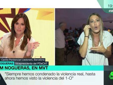 """Tensa entrevista entre Mamen Mendizábal y la portavoz del PDeCAT: """"El Estado prefiere la represión y la violencia"""""""