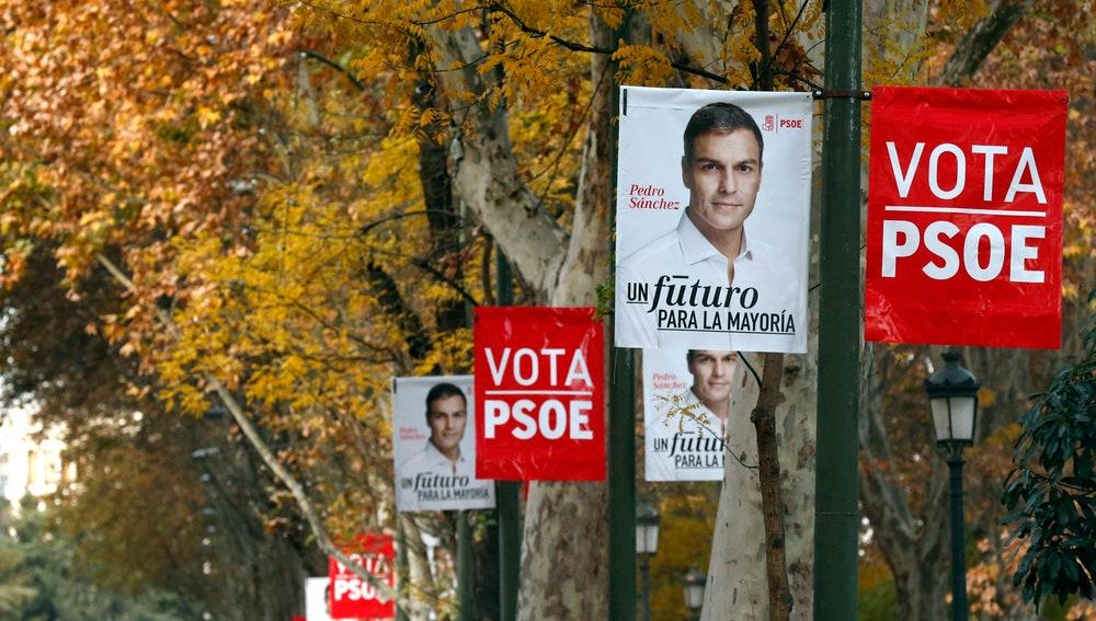 Carteles de la campaña electoral