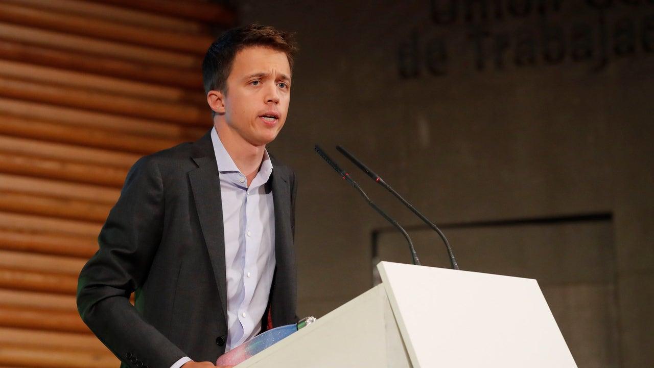 El candidato de Más País, Íñigo Errejón