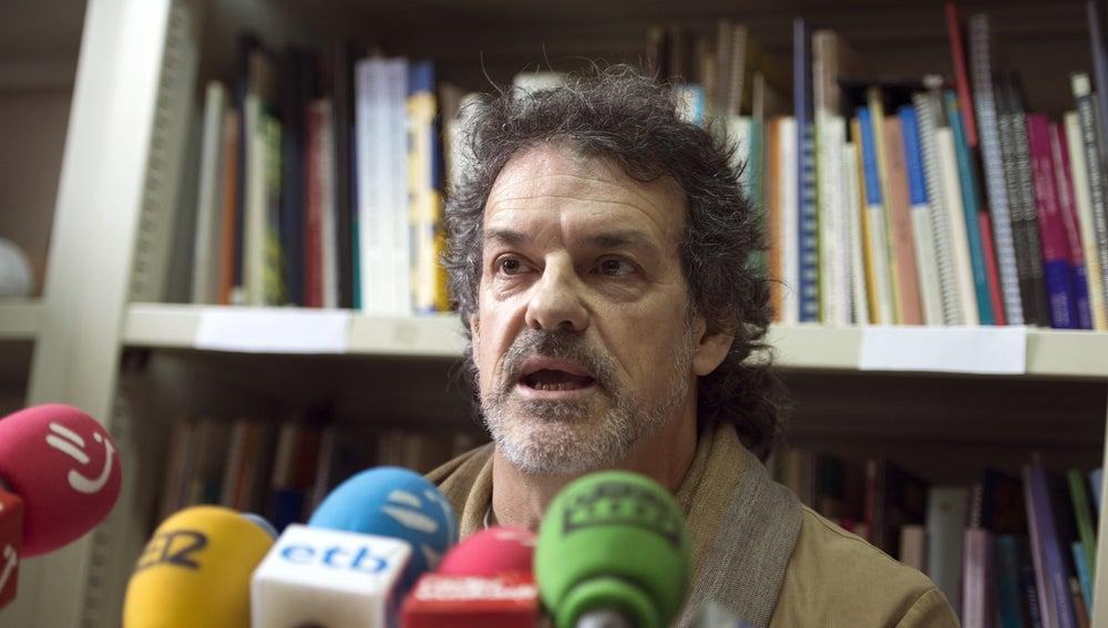 Txema Urkijo, durante una rueda de prensa