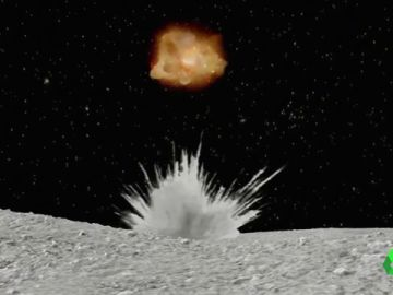 Recreación del impacto de un asteroide
