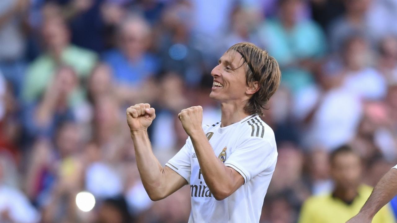 Luka Modric celebra un gol