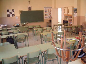Un aula de un colegio