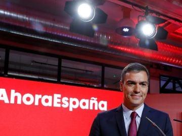 El secretario general del PSOE y presidente del Gobierno en funciones, Pedro Sánchez