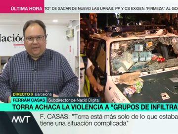 """Ferran Casas: """"Me sorprende que Sánchez convoque antes a un pirómano llamado Albert Rivera que a Torra para hablar de Cataluña"""""""