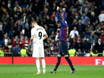 Piqué y Benzema en el Clásico
