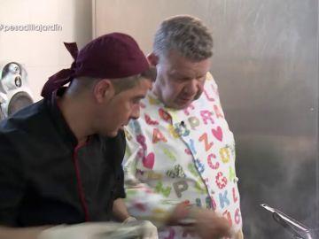 Chicote se enfrenta a Feli y a su 'fantasmal' El jardín del pensador en Pesadilla en la cocina