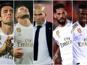 Odriozola, Jovic, Zidane, Isco y Vinicius