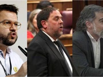 Imagen de Aragonès, Junqueras y Cuixart