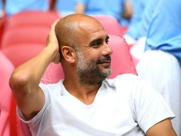 Guardiola, en un partido con el City