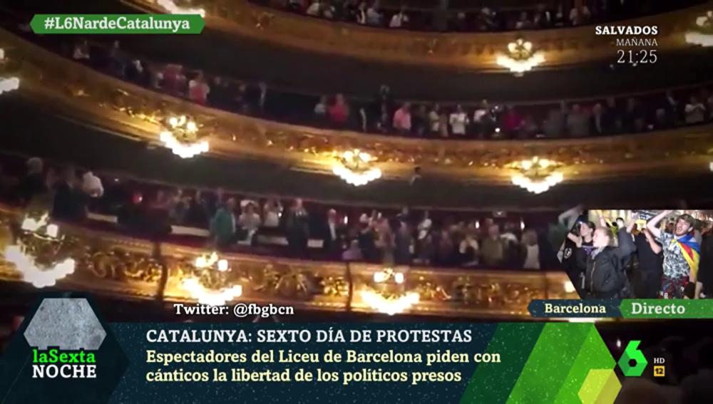 El Liceu pide la libertad de los políticos presos