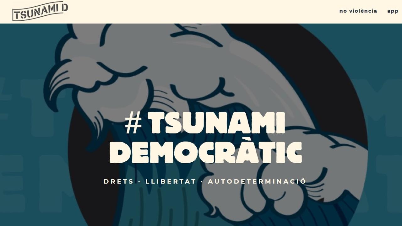 Imagen de la web de Tsunami Democràtic