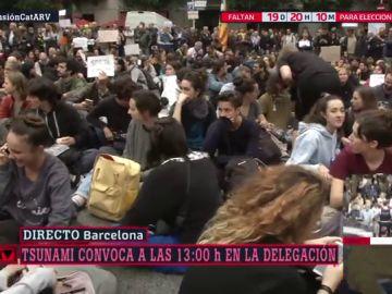 Sentada ante Delegación del Gobierno en Barcelona