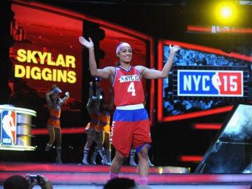 Skylar Diggins, en el Celebrity Game del All Star de 2015
