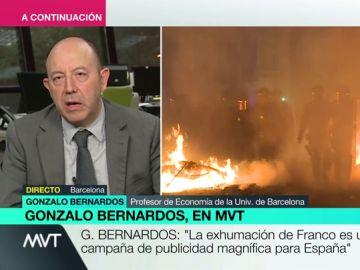 """Gonzalo Bernardos, sobre el independentismo: """"Una parte de la población ha decidido suicidarse económicamente"""""""