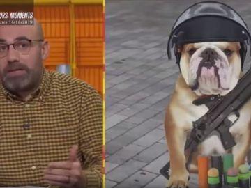 """'Està passant' se refiere a los Mossos como """"perros rabiosos"""" y """"analfabetos"""""""