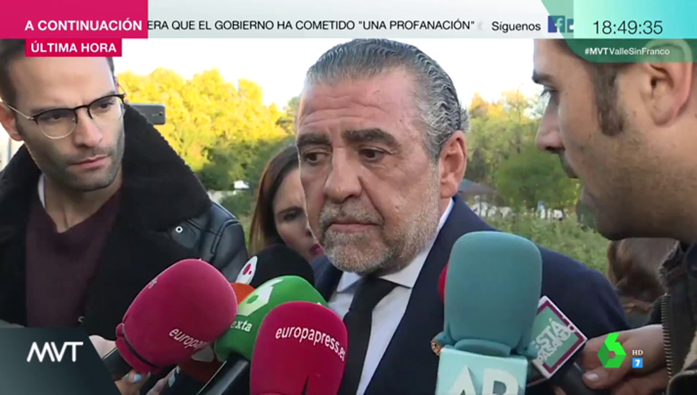 """Jaime Martínez-Bordiú, nieto de Franco: """"España es el único país en el que no te puedes enterrar con tu bandera"""""""
