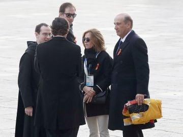 Familiares del dictador a su llegada al Valle de los Caídos