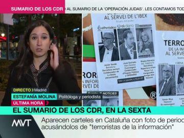"""Estefanía Molina, tras ser señalada en carteles anónimos: """"El procés no se podría entender sin desprecios a la legalidad"""""""