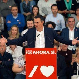Pedro Sánchez durante un acto del PSOE (Archivo)